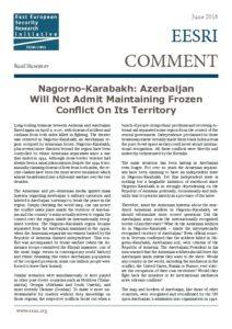 thumbnail of 2016-06 Azerbaijan won't admit frozen Karabakh conflict – EESRI-C-ENG